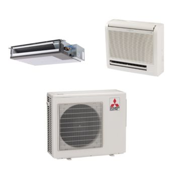 Mitsubishi MXZ2B20NA12052 - 20,000 BTU Dual-Zone Mixed Mini Split Air Conditioner Heat Pump 208-230V (9-9)