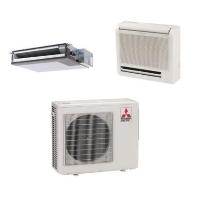 Mitsubishi MXZ2B20NA12052 - 20,000 BTU Dual-Zone Mixed Mini Split Air Conditioner Heat Pump 208-230V (9-9)