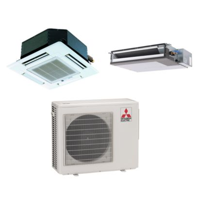 Mitsubishi MXZ2B20NA12060 - 18,000 BTU Dual-Zone Mixed Mini Split Air Conditioner Heat Pump 208-230V (9-9)
