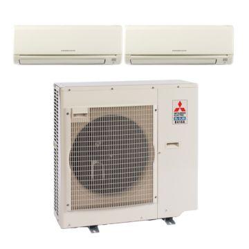 Mitsubishi MXZ3B24NA12000 - 22,000 BTU 17.5 SEER Dual-Zone Wall Mounted Mini Split Air Conditioner with Heat Pump 220V (6-6)