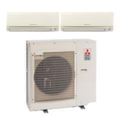 Mitsubishi MXZ3B24NA12004 - 22,000 BTU Dual-Zone Wall Mount Mini Split Air Conditioner Heat Pump 208-230V (9-9)
