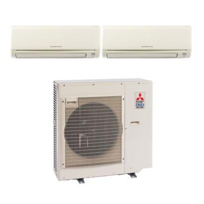 Mitsubishi MXZ3B30NA12066- 28,400 BTU Dual-Zone Wall Mount Mini Split Air Conditioner Heat Pump 208-230V (12-15)