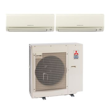 Mitsubishi MXZ3B30NA12070- 28,400 BTU 17.5 SEER Dual-Zone Wall Mounted Mini Split Air Conditioner with Heat Pump 220V (12-18)
