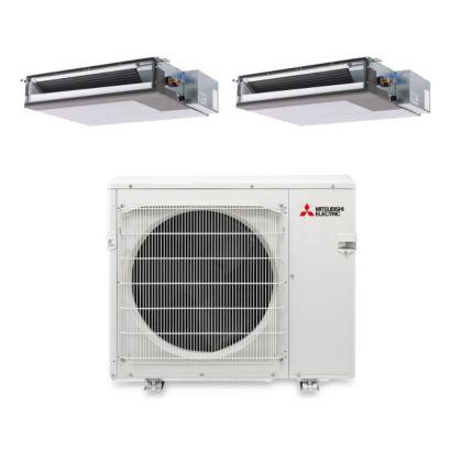Mitsubishi MXZ3B30NA12203 -30,000 BTU Dual-Zone Concealed Duct Ductless Mini Split Air Conditioner Heat Pump 208-230V (15-15)