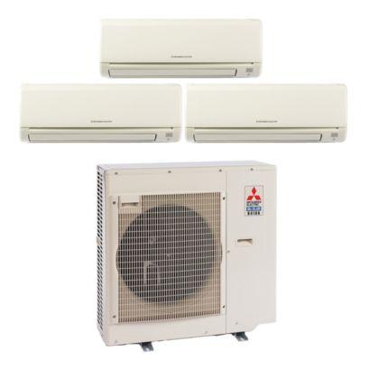 Mitsubishi MXZ3B30NA13015- 28,400 BTU Tri-Zone Wall Mount Mini Split Air Conditioner Heat Pump 208-230V (9-9-12)