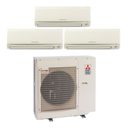 Mitsubishi MXZ3B30NA13018-28,400 BTU Tri-Zone Wall Mount Mini Split Air Conditioner Heat Pump 208-230V (9-12-12)