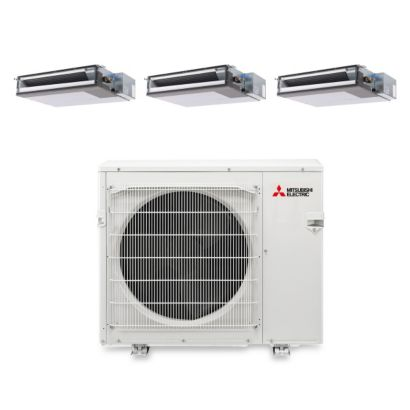 Mitsubishi MXZ3B30NA13201 - 30,000 BTU Tri-Zone Concealed Duct Mini Split Air Conditioner Heat Pump 208-230V (9-9-12)