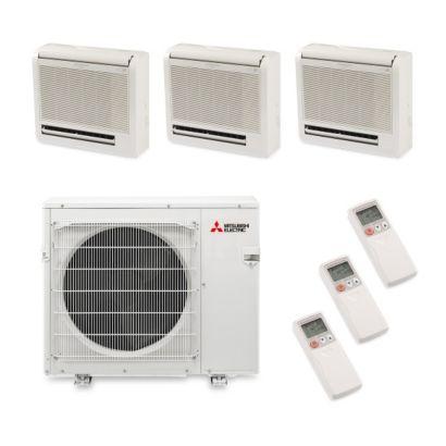 Mitsubishi MXZ3B30NA13301 -30,000 BTU Tri-Zone Floor Mount Ductless Mini Split Air Conditioner Heat Pump 208-230V (9-9-12)
