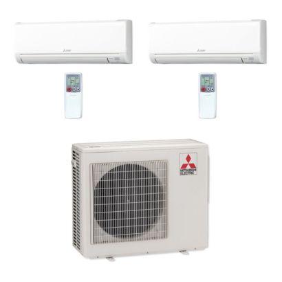 Mitsubishi MXZ3C24NA-2WS-11 - 24,000 BTU MR SLIM Dual-Zone Ductless Mini Split Air Conditioner Heat Pump 208-230V (12-12)