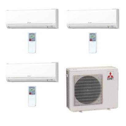 Mitsubishi MXZ3C24NA-3WS-00 - 24,000 BTU MR SLIM Tri-Zone Ductless Mini Split Air Conditioner Heat Pump 208-230V (6-6-6)