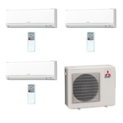 Mitsubishi MXZ3C24NA-3WS-06 - 24,000 BTU MR SLIM Tri-Zone Ductless Mini Split Air Conditioner Heat Pump 208-230V (6-9-9)