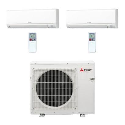 Mitsubishi MXZ3C30NA-2WS-15 - 30,000 BTU MR SLIM Dual-Zone Ductless Mini Split Air Conditioner Heat Pump 208-230V (15-15)