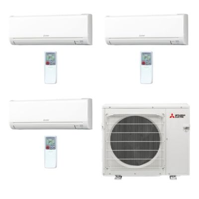 Mitsubishi MXZ3C30NA 3WS 07   30,000 BTU MR SLIM Tri Zone Ductless Mini  Split Air Conditioner Heat Pump 208 230V (6 9 12)