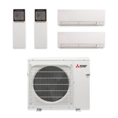 Mitsubishi MXZ-3C30NAHZ-2WF-07 - 30,000 BTU Hyper Heat Dual-Zone Wall Mount Mini Split Air Conditioner 208-230V (18-18)