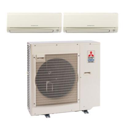 Mitsubishi MXZ4B36NA12073 - 35,400 BTU Dual-Zone Wall Mount Mini Split Air Conditioner Heat Pump 208-230V (18-18)