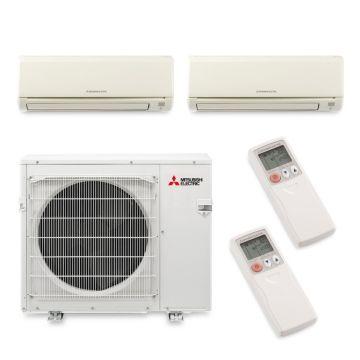 Mitsubishi MXZ4B36NA12076 - 35,400 BTU 18 SEER Dual-Zone Wall Mounted Mini Split Air Conditioner with Heat Pump 220V (12-24)