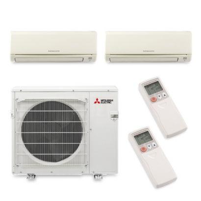 Mitsubishi MXZ4B36NA12076 - 35,400 BTU Dual-Zone Wall Mount Mini Split Air Conditioner Heat Pump 208-230V (12-24)