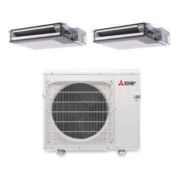 Mitsubishi MXZ4B36NA12204- 34,400 BTU 15 SEER Dual-Zone Concealed Duct Mini Split Air Conditioner with Heat Pump 220V (15-18)