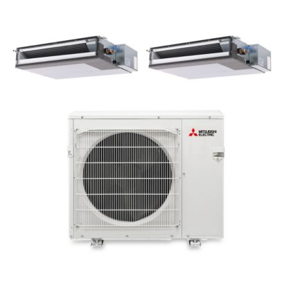 Mitsubishi MXZ4B36NA12204- 34,400 BTU Dual-Zone Concealed Duct Mini Split Air Conditioner Heat Pump 208-230V (15-18)