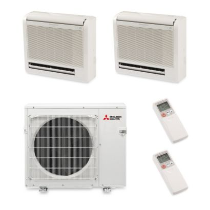 Mitsubishi MXZ4B36NA12303 - 36,000 BTU Dual-Zone Floor Mount Mini Split Air Conditioner Heat Pump 208-230V (18-18)