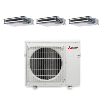 Mitsubishi MXZ4B36NA13205-34,400 BTU 15 SEER Tri-Zone Concealed Duct Mini Split Air Conditioner with Heat Pump 220V (9-12-15)