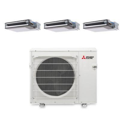 Mitsubishi MXZ4B36NA13208 - 36,000 BTU Tri-Zone Concealed Duct Mini Split Air Conditioner Heat Pump 208-230V (12-12-12)