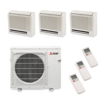 Mitsubishi MXZ4B36NA13303 - 35,400 BTU Tri-Zone Floor Mount Mini Split Heat Pump Outdoor Unit 208-230V (9-12-12)