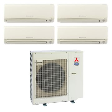 Mitsubishi MXZ4B36NA14004-35,400 BTU 18 SEER Quad-Zone Wall Mounted Mini Split Air Conditioner with Heat Pump 220V (6-6-6-15)