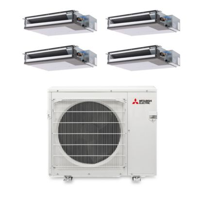 Mitsubishi MXZ4B36NA14200 - 36,000 BTU Quad-Zone Concealed Duct Mini Split Air Conditioner Heat Pump 208-230V (9-9-9-9)
