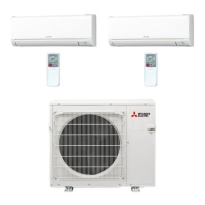 Mitsubishi MXZ4C36NA-2WS-13 - 36,000 BTU MR SLIM Dual-Zone Ductless Mini Split Air Conditioner Heat Pump 208-230V (12-18)