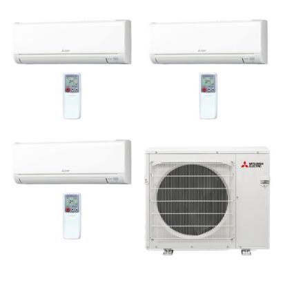 Mitsubishi MXZ4C36NA-3WS-04 - 36,000 BTU MR SLIM Tri-Zone Ductless Mini Split Air Conditioner Heat Pump 208-230V (6-6-18)