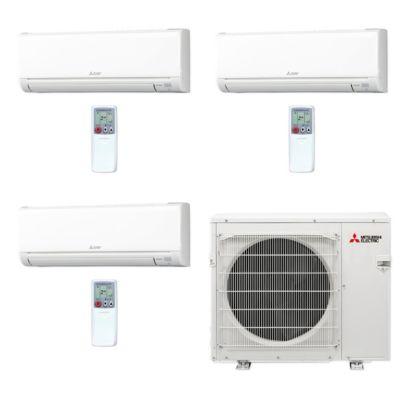 Mitsubishi MXZ4C36NA-3WS-34 - 36,000 BTU MR SLIM Tri-Zone Ductless Mini Split Air Conditioner Heat Pump 208-230V (12-12-12)