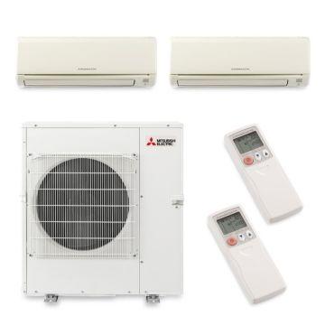Mitsubishi MXZ5B42NA2077 - 40,800 BTU Dual-Zone Wall Mount Mini Split Air Conditioner Heat Pump 208-230V (15-24)