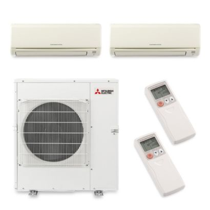 Mitsubishi MXZ5B42NA2077 - 40,800 BTU Dual-Zone Wall Mount Mini Split Air Conditioner Heat Pump 208-230V (15-24)