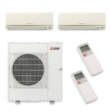 Mitsubishi MXZ5B42NA2078 - 40,800 BTU Dual-Zone Wall Mount Mini Split Air Conditioner Heat Pump 208-230V (18-24)