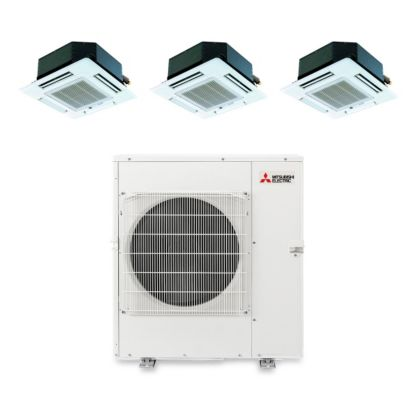 Mitsubishi MXZ5B42NA3105 - 40,800 BTU Tri-Zone Ceiling Cassette Mini Split Air Conditioner Heat Pump 208-230V (9-15-15)