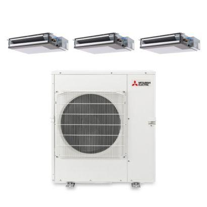 Mitsubishi MXZ5B42NA3206 - 42,000 BTU Tri-Zone Concealed Duct Mini Split Air Conditioner Heat Pump 208-230V (9-12-18)