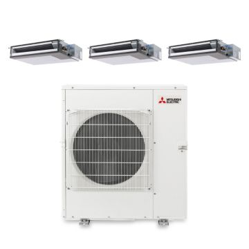 Mitsubishi MXZ5B42NA3209 - 37,200 BTU Tri-Zone Concealed Duct Mini Split Air Conditioner Heat Pump 208-230V (12-12-15)