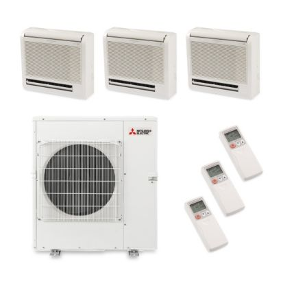 Mitsubishi MXZ5B42NA3306 - 42,000 BTU Tri-Zone Floor Mount Mini Split Air Conditioner Heat Pump 208-230V (12-12-18)