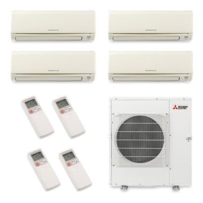 Mitsubishi MXZ5B42NA4024 - 40,800 BTU Quad-Zone Wall Mount Mini Split Air Conditioner Heat Pump 208-230V (6-6-6-24)