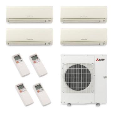 Mitsubishi MXZ5B42NA4025 - 40,800 BTU Quad-Zone Wall Mounted Mini Split Air Conditioner with Heat Pump 220V (6-6-9-18)