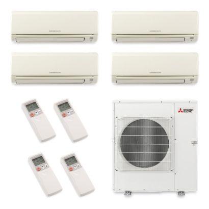 Mitsubishi MXZ5B42NA4027 - 40,800 BTU Quad-Zone Wall Mount Mini Split Air Conditioner Heat Pump 208-230V (6-9-9-18)
