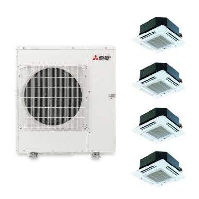 Mitsubishi MXZ5B42NA4101 - 40,800 BTU Quad-Zone Ceiling Cassette Mini Split Air Conditioner Heat Pump 208-230V (9-9-9-12)