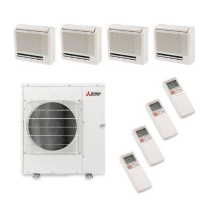 Mitsubishi MXZ5B42NA4301 - 42,000 BTU Quad-Zone Floor Mount Mini Split Air Conditioner Heat Pump 208-230V (9-9-9-12)