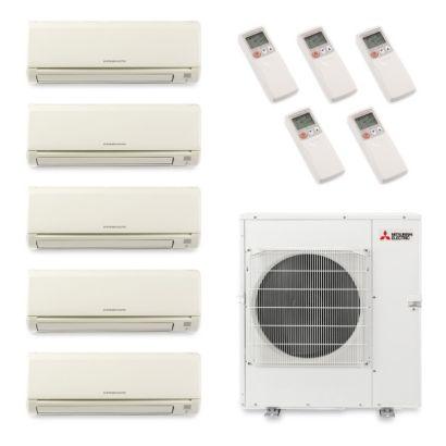 Mitsubishi MXZ5B42NA5001 - 40,800 BTU Penta-Zone Wall Mount Mini Split Air Conditioner Heat Pump 208-230V (6-6-6-6-9)