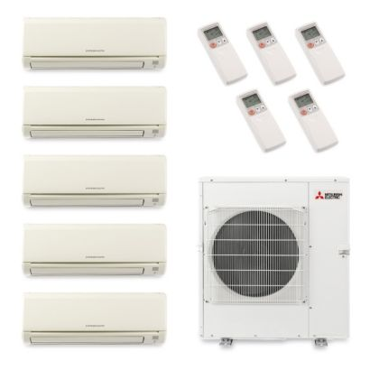 Mitsubishi MXZ5B42NA5008 - 40,800 BTU Penta-Zone Wall Mount Mini Split Air Conditioner Heat Pump 208-230V (6-6-6-12-12)