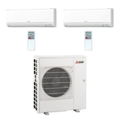 Mitsubishi MXZ5C42NA-2WS-14 - 42,000 BTU MR SLIM Dual-Zone Ductless Mini Split Air Conditioner Heat Pump 208-230V (12-24)