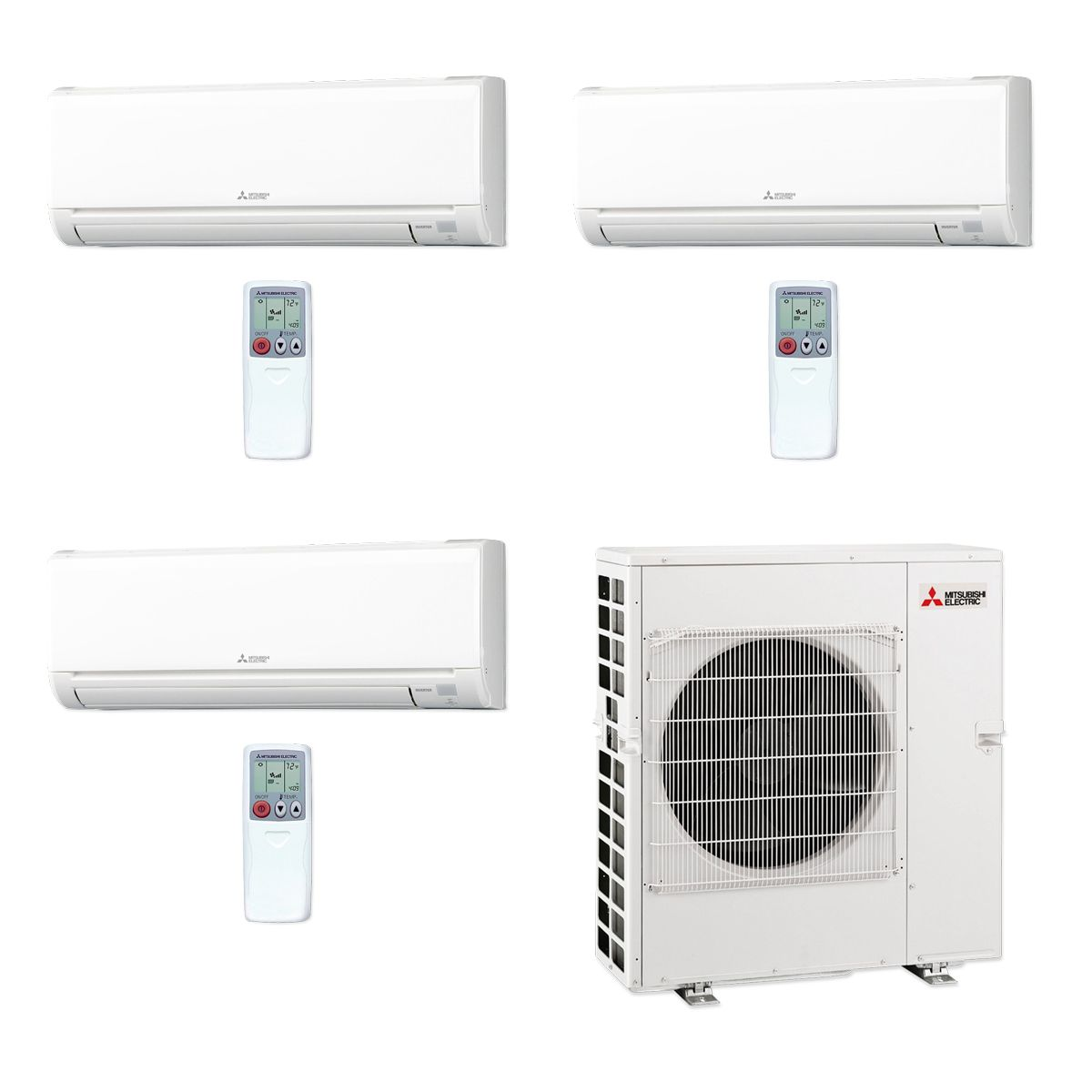 Mitsubishi Mxz5c42na 3ws 35 42 000 Btu Mr Slim Tri Zone Ductless Mini Split Air Conditioner Heat Pump 208 230v 12 15