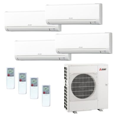 Mitsubishi MXZ5C42NA 4WS 11   42,000 BTU MR SLIM Quad Zone Ductless Mini Split  Air Conditioner Heat Pump 208 230V (6 6 12 12)