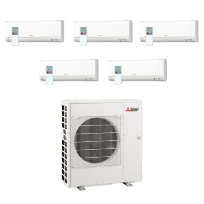 Mitsubishi MXZ5C42NA-5WS-04- 42,000 BTU MR SLIM Penta-Zone Ductless Mini Split Air Conditioner Heat Pump 208-230V(6-6-6-6-18)